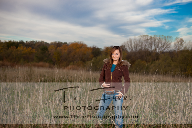 Stunning early morning outdoor senior picture of a high school senior by iowa senior photographer taken near omaha nebraska.