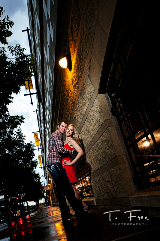 Unique engagement picture taken by an Omaha Nebraska parking garage.