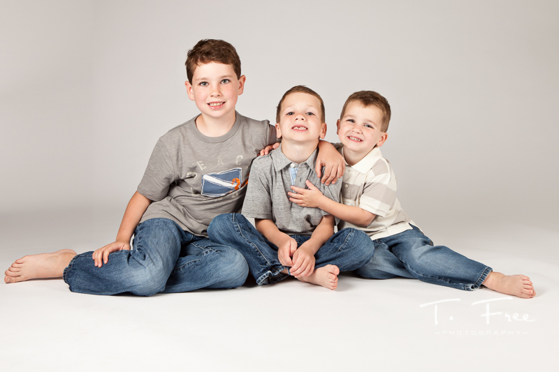 Three boys photo session in Elkhorn, Nebraska.