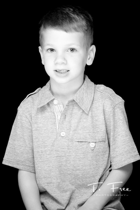 Best black and white children photo taken at Elkhorn, Nebraska studio.