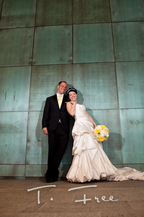 Stunning bride and groom image taken at the Holland Performing Arts Center in downtown Omaha Nebraska.