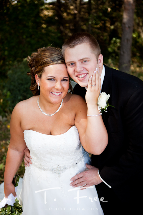 Gorgeous bride and groom photo taken outdoors near Loomis, Nebraska.