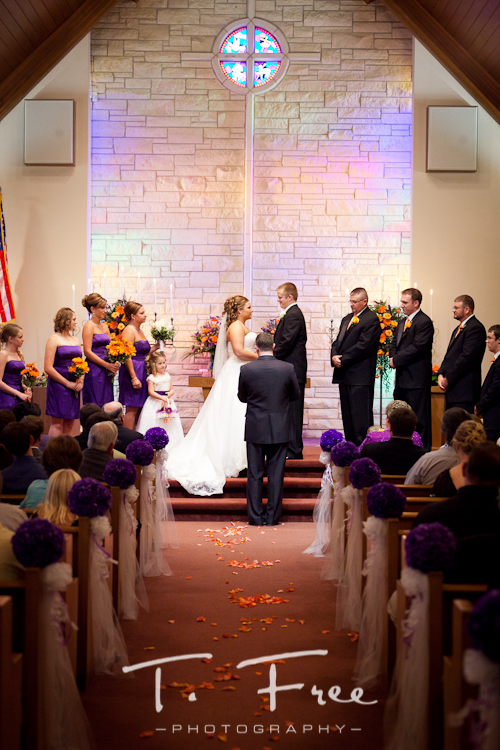 Beautiful country church wedding near Loomis and Holdrege Nebraska.