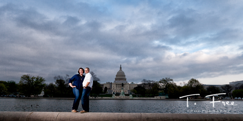 Engagement shoot at the U.S. Capitol Building in Washington DC.