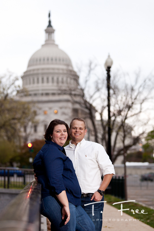 Once in a lifetime destination engagment photo session in Washington DC.