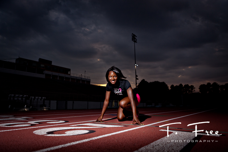 Cool dramatic sky over Burke Stadium senior session.