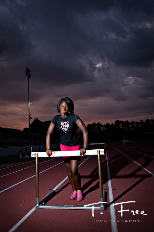 High school senior track star from brownell-talbot school in omaha nebraska.