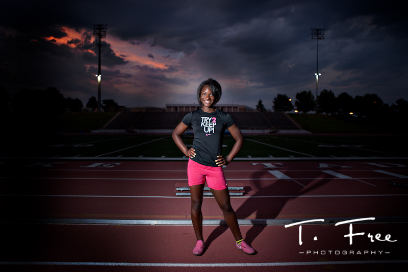 Very cool off camera flash at Burke Stadium Omaha Nebraska.