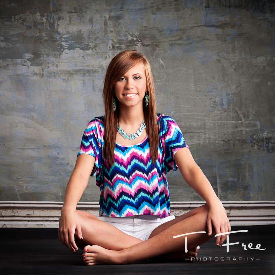 2013 high school senior model photo shoot with Denny background and Elinchrom lighting.