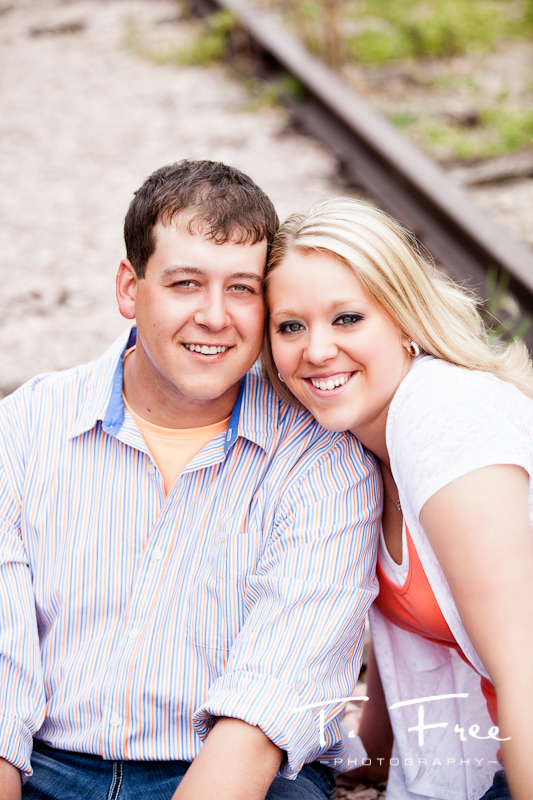 Nice outdoor engagement headshot taken near Hooper Nebraska.