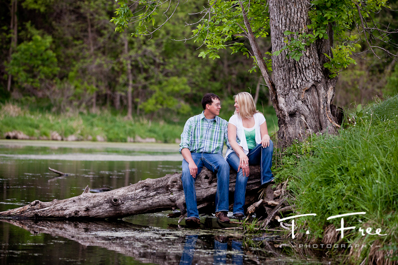 Outdoor engagement session at Dead Timber State Recreation Area near Scribner Nebraska.