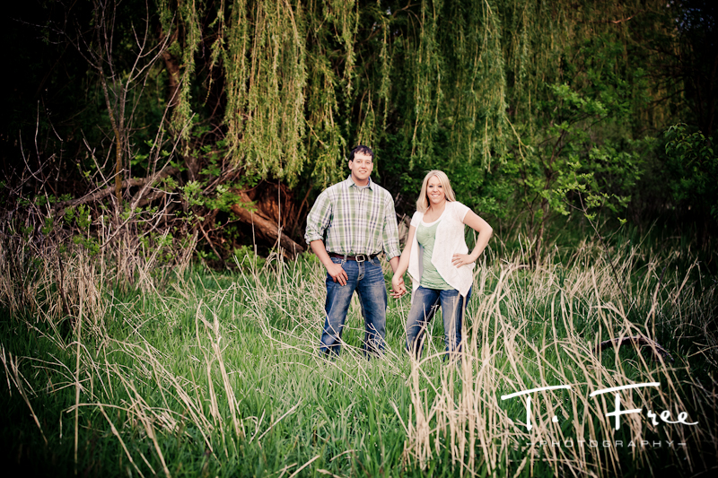 Outdoor high contrast engagement photo at Dead Timber State Recreation Area near Scribner Nebraska.