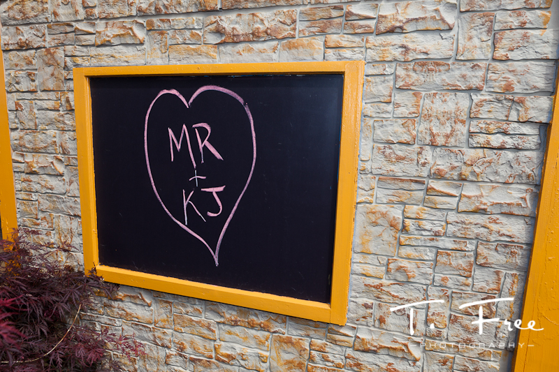Neat chalk board at the wedding.