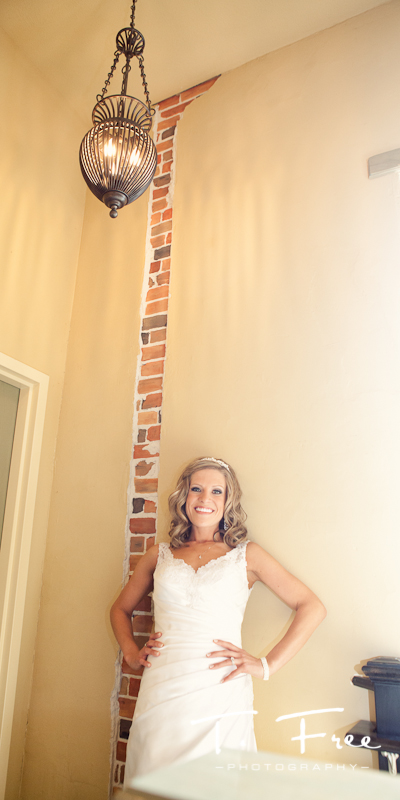 Very creative bridal image created after wedding ceremony in downtown Elkhorn Nebraska.