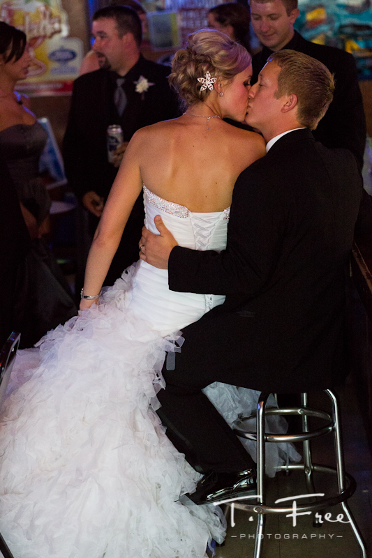Intimate moment for the bride and groom after their wedding in Grand Island Nebraska.