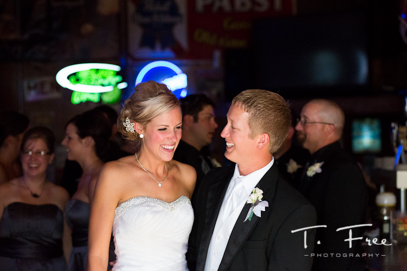 Fantastic natural reaction by the bride in Grand Island Nebraska.
