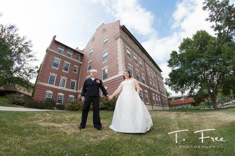 Brownell-Talbot campus wedding in Omaha.