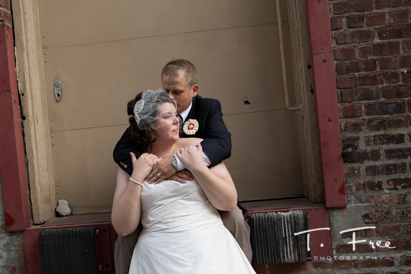 Beautiful bride and groom moment before their reception at the paxton in downtown Omaha.