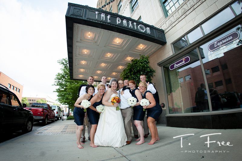 Wedding reception at The Paxton in downtown Omaha.