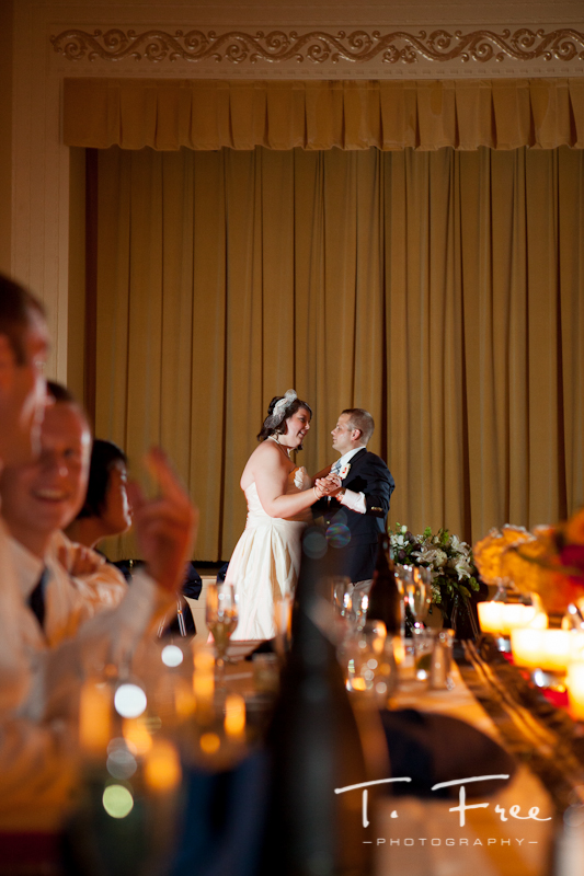 Bride and grooms first dance in downtown Omaha at The Paxton.