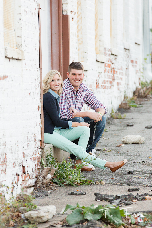 Casual engagement session in urban Omaha.