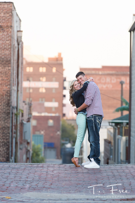 Gorgeous Omaha couple on their engagement shoot.