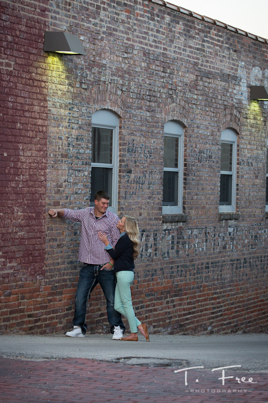 Creative engagement photos in Omaha.