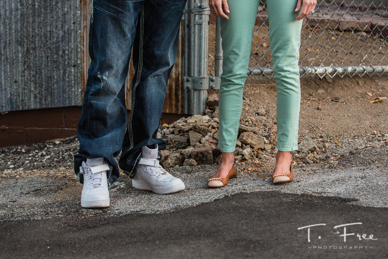 Omaha engagement session shoes.