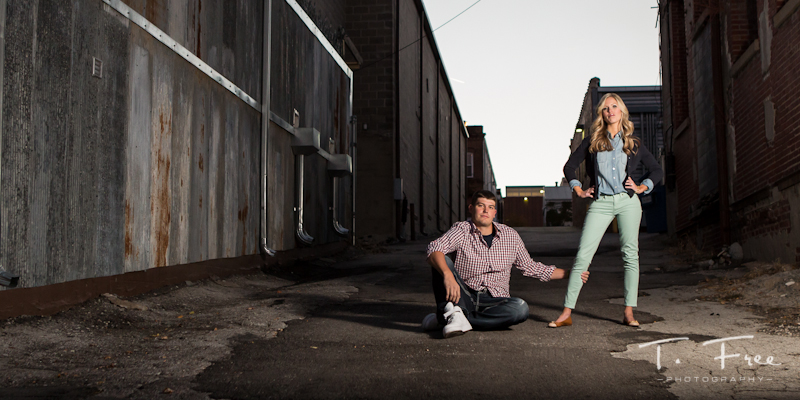 Fantastic Omaha engagement photo.
