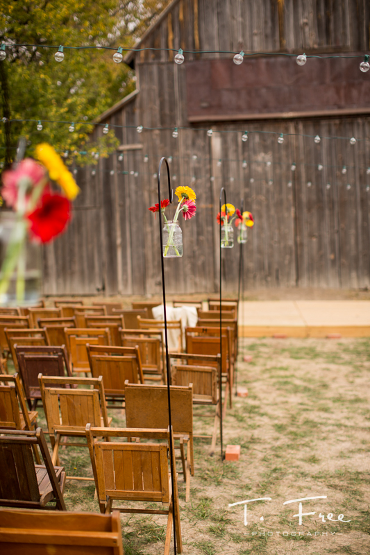 Outdoor rustic barn nebraska wedding.