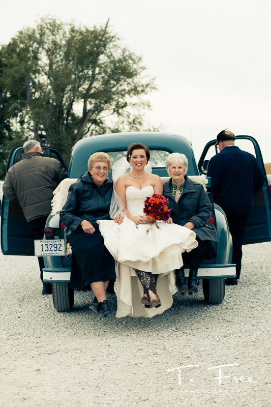 Studebaker pickup with grandparents prior to nebraska wedding.