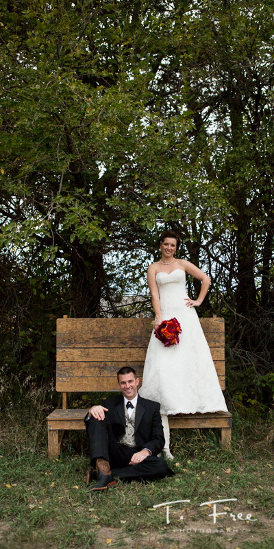Unique on location bride and groom image.