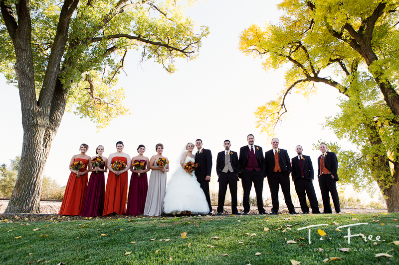 Wedding bridal party creative Nebraska on location.