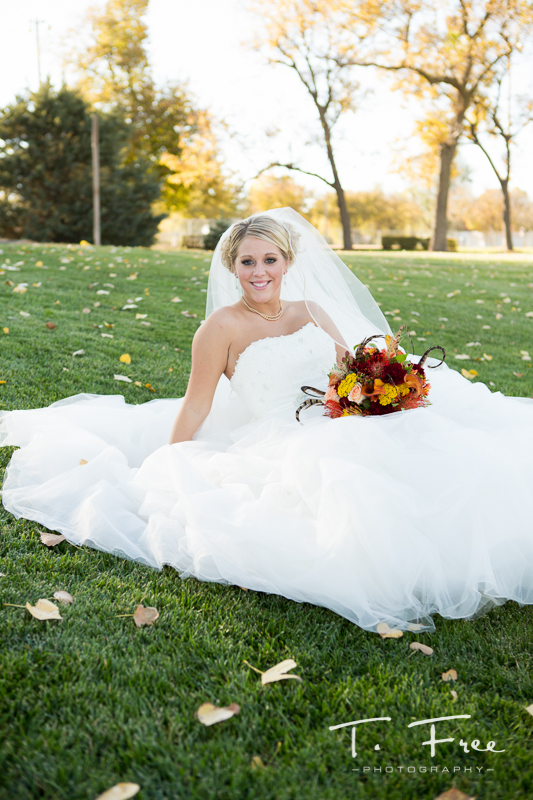Outdoor central Nebraska creative bride.