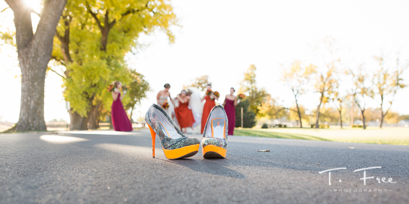 Nebraska wedding camouflage wedding shoes.