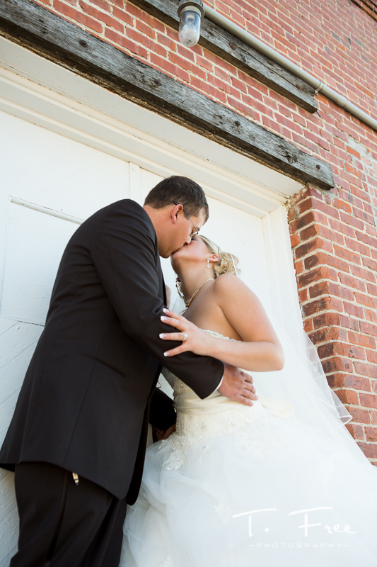 Wedding kissing.