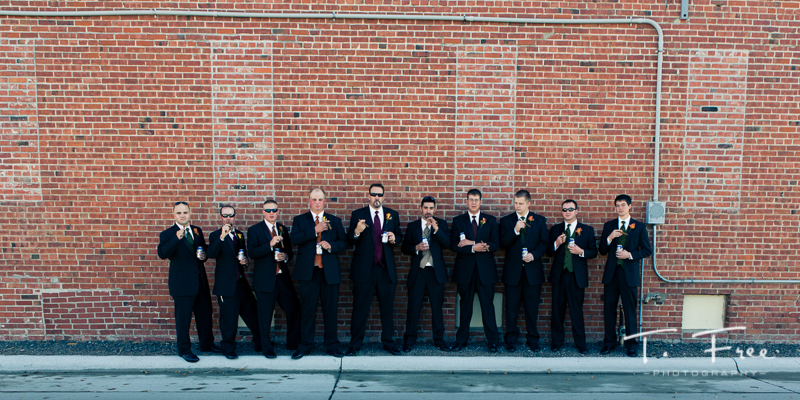 Casual groomsmen central Nebraska wedding.