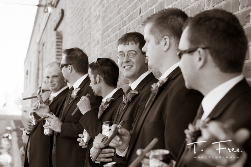 Fun Nebraska wedding groomsmen.