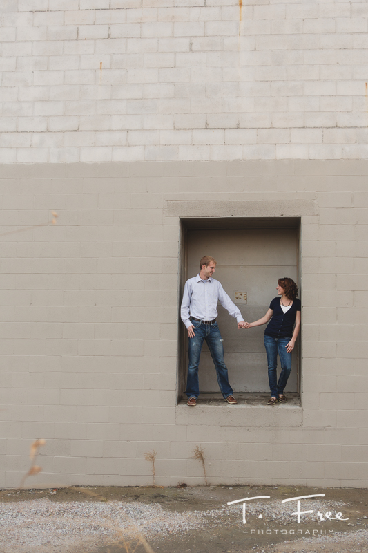 Creative wide angle engagement photo.