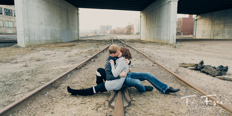 Abandoned train station engagement shoot.