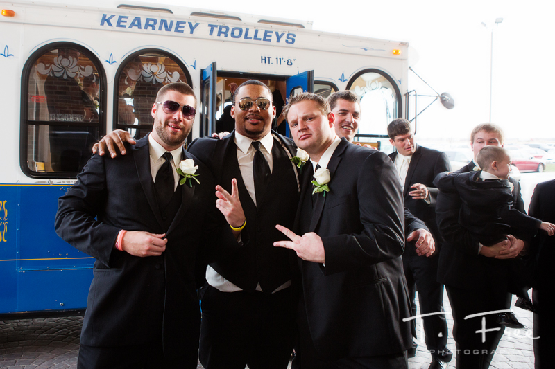 Former huskers Mike McNeill Keith Williams and Ryan Hill at Dreu Young wedding.