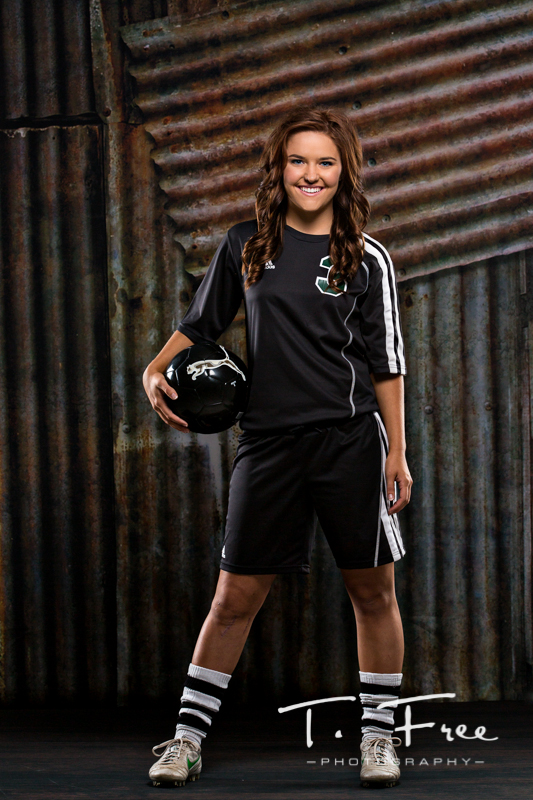 Omaha girls high school soccer star senior pictures.