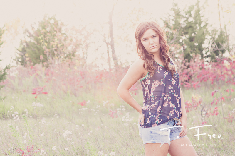 Backlit rustic high school senior fashion.