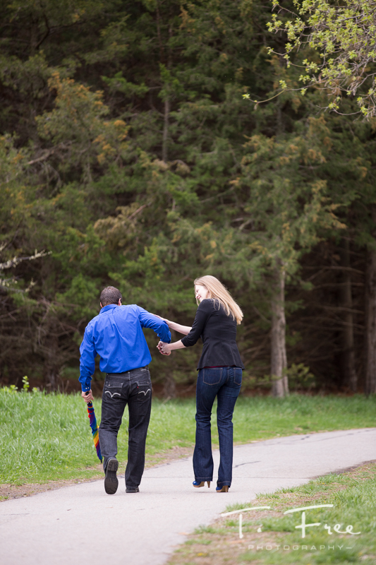 Casual Lake Zorinsky Park engagement.