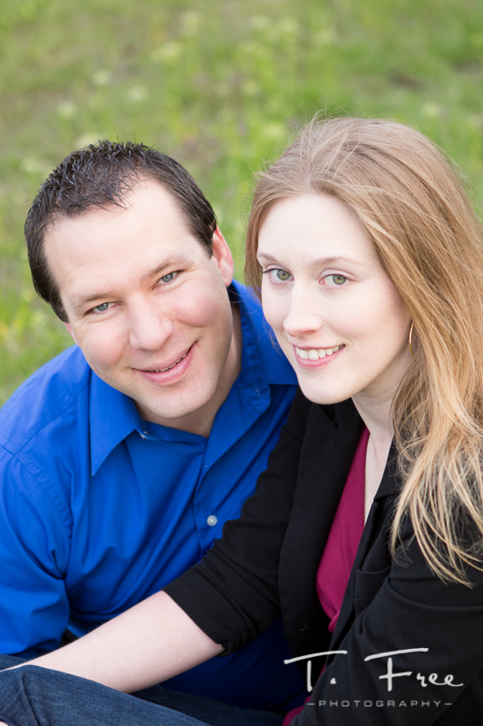 Newly engaged photo session in Omaha.