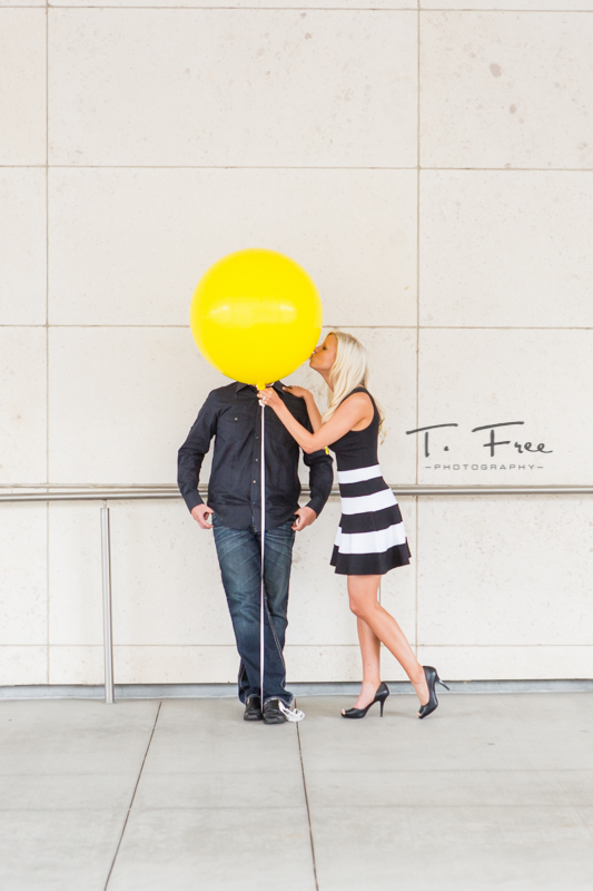 Funny engagement session in downtown Omaha.