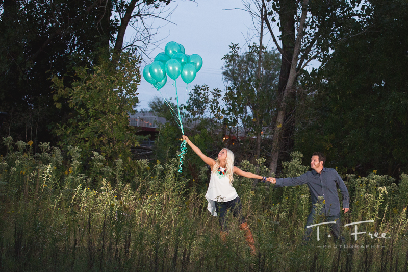 Pinterest come to life in downtown Omaha engagement session.