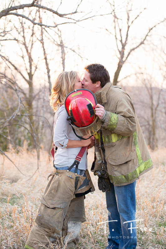 Omaha area firefighter engaged.