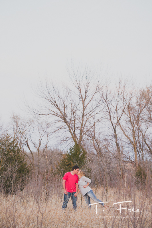 Outdoor engagement session near Elkhorn.