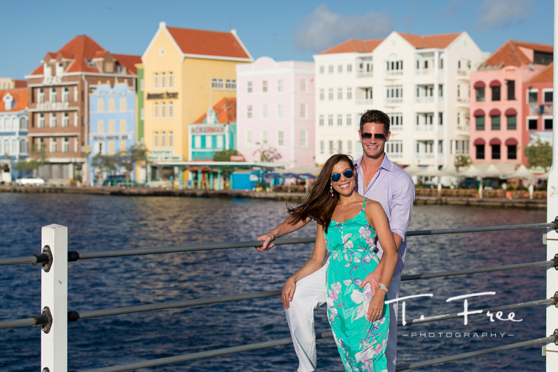 Punta, Willemstad, Curacao engagement session.